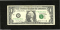 Error Notes:Shifted Third Printing, Fr. 1915-F $1 1988A Federal Reserve Note. Very Fine....