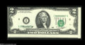 Error Notes:Shifted Third Printing, Fr. 1935-I $2 1976 Federal Reserve Note. Choice Crisp Uncirculated....