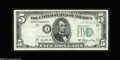 Error Notes:Shifted Third Printing, Fr. 1962-J $5 1950A Federal Reserve Note. About New....