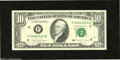 Error Notes:Skewed Reverse Printing, Fr. 2028F $10 1988A Federal Reserve Note Extremely Fine....