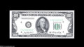 Error Notes:Skewed Reverse Printing, Fr. 2158-D $100 1950A Federal Reserve Note. Choice New....