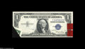 Error Notes:Foldovers, Fr. 1614 $1 1935E Silver Certificate. Choice New....