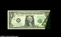 Error Notes:Foldovers, Fr. 1913-L $1 1985 Federal Reserve Note. Extremely Fine....