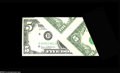 Error Notes:Foldovers, Fr. 1971-D $5 1969B Federal Reserve Note. About New....