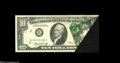 Error Notes:Foldovers, Fr. 2022-B $10 1974 Federal Reserve Note. Extremely Fine....
