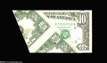 Error Notes:Foldovers, Fr. 2028-K $10 1988A Federal Reserve Note. About New....
