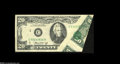Error Notes:Foldovers, Fr. 2071-C $20 1974 Federal Reserve Note. Extremely Fine....