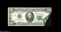 Error Notes:Foldovers, Fr. 2072-H $20 1977 Federal Reserve Note. Extremely Fine....