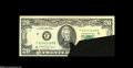 Error Notes:Foldovers, Fr. 2076-F $20 1988A Federal Reserve Note. Extremely Fine....