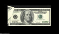 Error Notes:Foldovers, Fr. 2175-J $100 1996 Federal Reserve Note. Gem New....