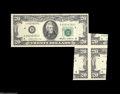 Error Notes:Attached Tabs, Fr. 2075-D $20 1985 Federal Reserve Note. Gem New....