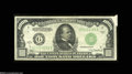 Error Notes:Attached Tabs, Fr. 2211-A $1,000 1934A Federal Reserve Note. Very Fine....