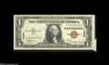 Error Notes:Attached Tabs, Fr. 2300 $1 1935A Hawaii Silver Certificate Very Fine....