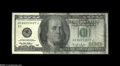 Error Notes:Ink Smears, Fr. 2175-B $100 1996 Federal Reserve Note. Extremely Fine....