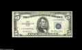 Error Notes:Obstruction Errors, Fr. 1655* $5 1953 Silver Certificate. Very Fine+....
