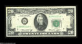 Error Notes:Obstruction Errors, Fr. 2071-G* $20 1974 Federal Reserve Note. Extremely Fine....