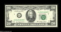 Error Notes:Obstruction Errors, Fr. 2072-G $20 1977 Federal Reserve Note. About New....