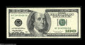 Error Notes:Obstruction Errors, Fr. 2175-C $100 1996 Federal Reserve Note. About New....