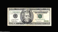 Error Notes:Miscellaneous Errors, Fr. 2084-L $20 1996 Federal Reserve Note Extremely Fine....