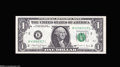Error Notes:Major Errors, Fr. 1916-B $1 1988A Federal Reserve Note. Choice AboutUncirculated....