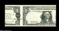 Error Notes:Major Errors, Fr. 1921-D $1 1995 Federal Reserve Note. Gem Crisp Uncirculated....