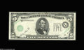 Error Notes:Major Errors, Fr. 1962-L $5 1950A Federal Reserve Note. Very Fine....