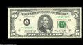 Error Notes:Major Errors, Fr. 1973-L $5 1974 Federal Reserve Note. Gem New....