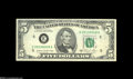 Error Notes:Major Errors, Fr. 1977-E $5 1981A Federal Reserve Note Choice CrispUncirculated....