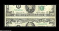 Error Notes:Major Errors, Fr. 2075-L $20 1985 Federal Reserve Note. About Uncirculated....