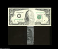 Error Notes:Major Errors, Fr. 2120-I $50 1981 Federal Reserve Note About Uncirculated....