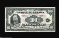 Canadian Currency: , BC-16 $100 1935...