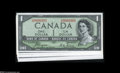 "Canadian Currency: , Matching Serial Number 393 1954 ""Devil's Face"" Portrait Set.... (7notes)"