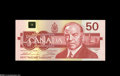 Canadian Currency: , Three High Denominations, Including Two Replacements.... (3 notes)