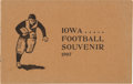 Football Collectibles:Programs, 1907 Iowa vs Wisconsin Football Program - The Rabbit Game!...
