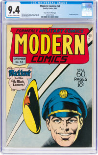 Modern Comics #53 Mile High Pedigree (Quality, 1946) CGC NM 9.4 Off-white to white pages