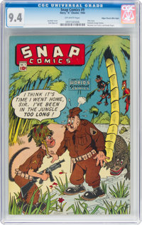 Snap Comics #9 Mile High Pedigree (Chesler, 1944) CGC NM 9.4 Off-white pages