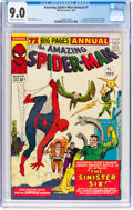 Silver Age (1956-1969):Superhero, The Amazing Spider-Man Annual #1 (Marvel, 1964) CGC VF/NM 9.0 Off-white to white pages....