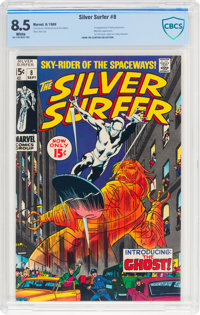 The Silver Surfer #8 (Marvel, 1969) CBCS VF+ 8.5 White pages