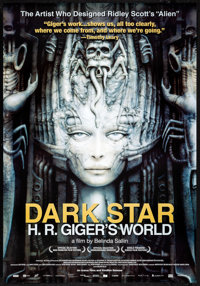 "Dark Star: H.R. Giger's World (Icarus Films, 2014) Rolled, Very Fine/Near Mint. One Sheet (27"" X 38.75""). Fore..."