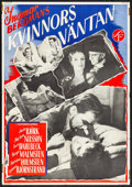 """Movie Posters:Foreign, Waiting Women (Svensk Filmindustri, R-1954) Folded, Fine/Very Fine. Swedish One Sheet (27.5"""" X 39.5""""). Foreign...."""