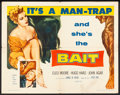 "Movie Posters:Bad Girl, Bait (Columbia, 1954). Folded, Fine-. Half Sheet (22"" X 28""). Bad Girl.. ..."
