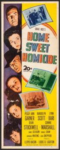 "Movie Posters:Comedy, Home Sweet Homicide (20th Century Fox, 1945) Folded, Fine/Very Fine. Insert (14"" X 36""). Comedy...."