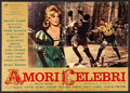 "Movie Posters:Foreign, Famous Love Affairs (Rank, 1962) Folded, Fine+. Italian Photobusta (37.5"" X 26.5""). Foreign...."