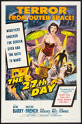 """Movie Posters:Science Fiction, The 27th Day (Columbia, 1957) Very Fine+. One Sheet (27"""" X 41""""). Science Fiction...."""