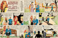 Original Comic Art:Comic Strip Art, Raeburn Van Buren Abbie an' Slats Sunday Comic StripOriginal Art dated 5-13-45 (United Feat...