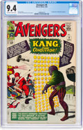 Silver Age (1956-1969):Superhero, The Avengers #8 (Marvel, 1964) CGC NM 9.4 Off-white to whitepages....