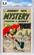 Silver Age (1956-1969):Superhero, Journey Into Mystery #86 (Marvel, 1962) CGC NM 9.4 Off-white towhite pages....