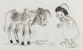 Animation Art:Concept Art, The Small One Concept Sketch Original Art by Mel Shaw (WaltDisney, 1978)....