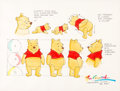 animation art:Model Sheet, Winnie the Pooh Model Sheet Original Art by Ron Campbell (Walt Disney, c. 1990s)....