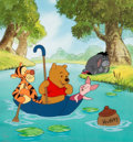 """Animation Art:Seriograph, """"Pooh's Hunny Hunt"""" Winnie the Pooh Limited Edition Sericel with Remarque (Walt Disney, 1998)...."""